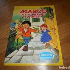 Coleccionismo Álbum: ALBUM MARCO DE LOS APENINOS A LOS ANDES; DANONE - COMPLETO. Lote 173472348
