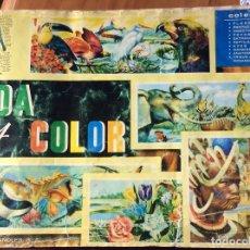 Coleccionismo Álbum: ALBUM VIDA Y COLOR, COMPLETO, SELLOS EN BUEN ESTADO, PERO TAPAS Y HOJAS INTER, MAL CONSERVADAS. Lote 173679569