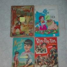 Coleccionismo Álbum: LOTE 4 ALBUMS COMPLETOS RIN TIN TIN PINOCHO HEIDI Y MARCELINO PAN Y VINO. Lote 173870899