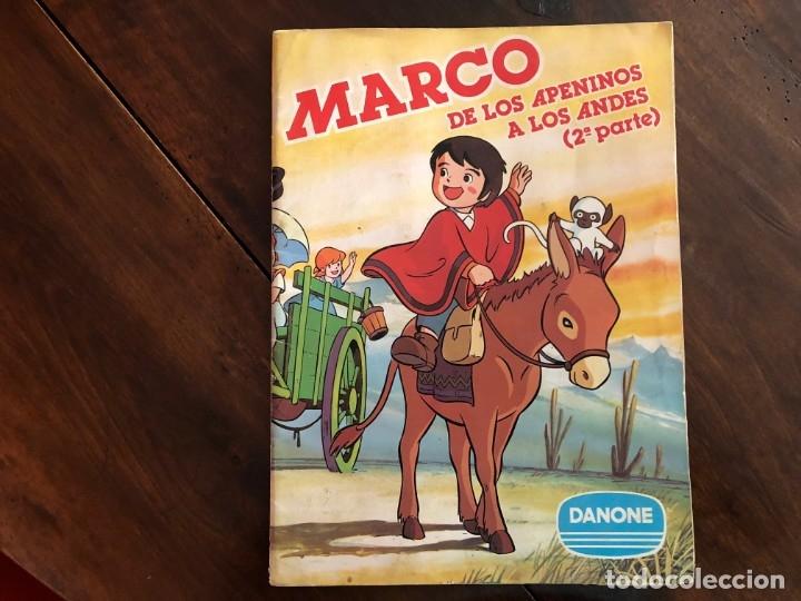 MARCO DE LOS APENINOS A LOS ANDES. 2ª PARTE DANONE 1976 (Coleccionismo - Cromos y Álbumes - Álbumes Completos)