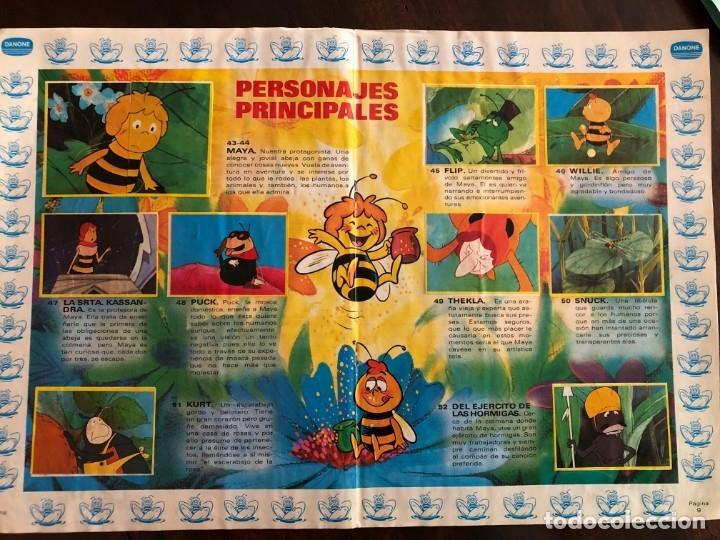 Coleccionismo Álbum: Las aventuras de la abeja Maya. Album de cromos . Completo Danone 1977 - Foto 3 - 173875678