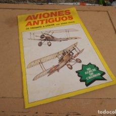 Coleccionismo Álbum: MI ALBUM DE CROMOS AVIONES ANTIGUOS, POSTER CENTRAL, COMPLETO, 1980. EDITORIAL NUEVA SITUACIÓN. Lote 173911745