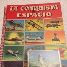Collezionismo Álbum: LA CONQUISTA DEL ESPACIO ALBUM PLANCHA + CROMOS NUEVOS SIN PEGAR.COMPLETO Y PERFECTO. Lote 174072497