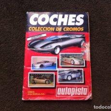 Coleccionismo Álbum: ÁLBUM DE CROMOS COMPLETO. COCHES. AUTOPISTA. 1990. CUSCÓ ARTES GRÁFICAS.. Lote 174134875