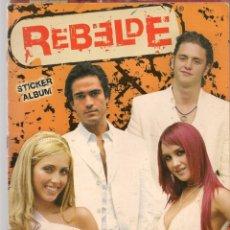Coleccionismo Álbum: REBELDE. STICKER ÁLBUM. PANINI. FALTAN 19 CROMOS. (ST/PN1). Lote 174363837