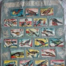 Coleccionismo Álbum: ÁLBUM ZOOLOGÍA AVES ME FALTA PORTADA CONTRAPORTADA COMPLETO LE FALTAN 5 CROMOS. Lote 174496149