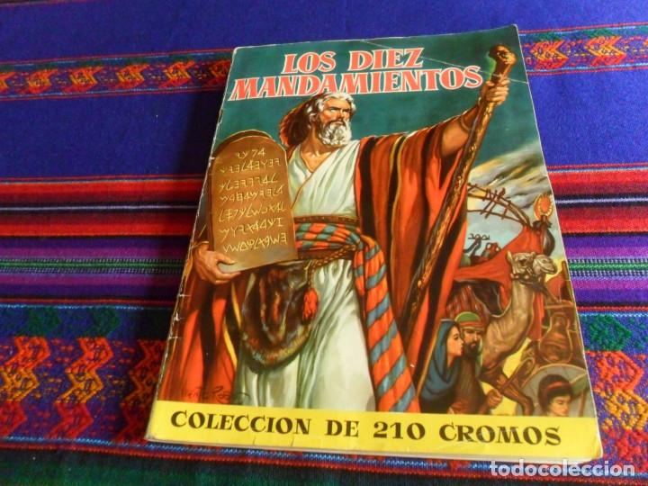 BUEN PRECIO, LOS DIEZ MANDAMIENTOS COMPLETO 210 CROMOS. BRUGUERA 1959. (Coleccionismo - Cromos y Álbumes - Álbumes Completos)