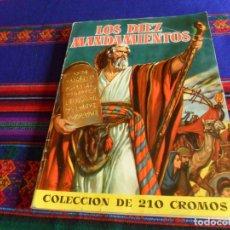 Coleccionismo Álbum: BUEN PRECIO, LOS DIEZ MANDAMIENTOS COMPLETO 210 CROMOS. BRUGUERA 1959.. Lote 174595238