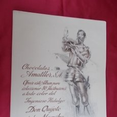Coleccionismo Álbum: ALBUM DE CROMOS COMPLETO. DON QUIJOTE DE LA MANCHA. SEGRELLES. CHOCOLATES AMATLLER. Lote 174618792