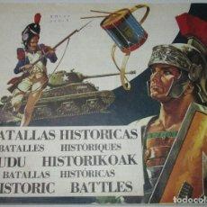 Coleccionismo Álbum: ÁLBUM CROMOS BATALLAS HISTÓRICAS 1974, DIFUSORA DE CULTURA, COMPLETO. Lote 175334838