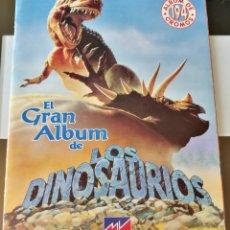 Coleccionismo Álbum: GRAN ÁLBUM CROMOS DINOSAURIOS MV EDITORES EXCELENTE ESTADO. Lote 175468760