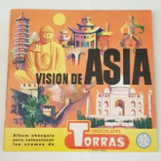 Coleccionismo Álbum: ALBUM CROMOS - VISION DE ASIA CHOCOLATES TORRAS ALBUM COMPLETO - TDKC38. Lote 175553763