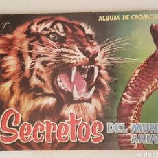 Coleccionismo Álbum: ALBUM SECRETOS DEL MUNDO ANIMAL - TDKC38. Lote 175553958