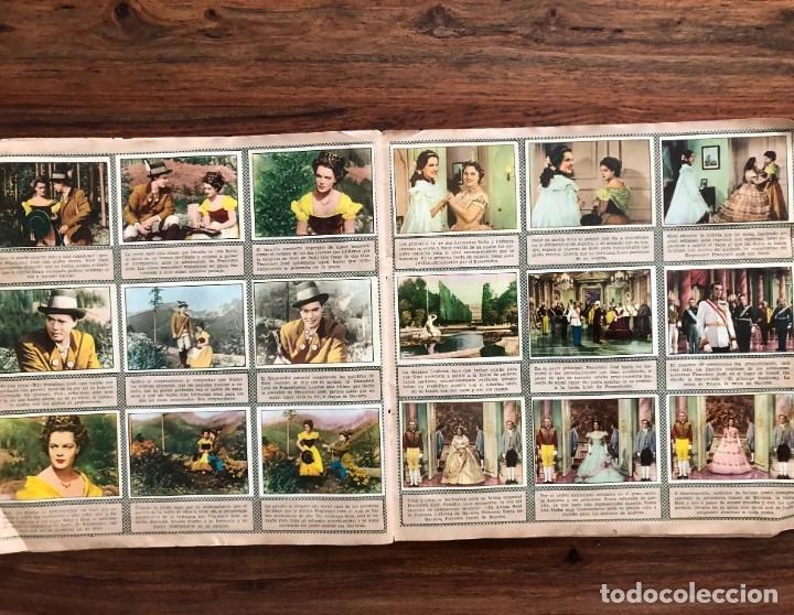 Coleccionismo Álbum: Sissi. album completo. 200 cromos. Editorial Bruguera 1957 Romy Schneider - Foto 3 - 175630209