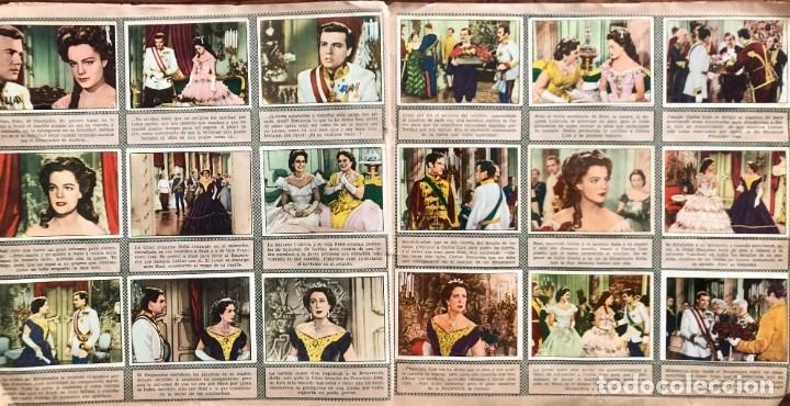 Coleccionismo Álbum: Sissi. album completo. 200 cromos. Editorial Bruguera 1957 Romy Schneider - Foto 4 - 175630209