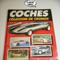 Coleccionismo Álbum: ÁLBUM DE CROMOS COCHES, ED. CUSCÓ/AUTOPISTA, COMPLETO 192 CROMOS, AÑO 1990 (C). Lote 175648862