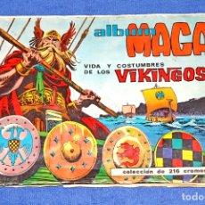 Coleccionismo Álbum: VIDA Y COSTUMBRES DE LOS VIKINGOS (EDITORIAL MAGA) - COLECCIÓN COMPLETA. Lote 68278501