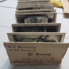 Coleccionismo Álbum: ALBUM 24 FOTOGRAFÍAS -REAL MONASTERIO DE SAN LORENZO DEL ESCORIAL . Lote 175879807