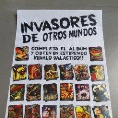 Coleccionismo Álbum: CROMOS COLECCIÓN COMPLETA MONSTERS MONSTRUOS INVASORES OTROS MUNDOS INVASORS FROM ANOTHER WORLDS. Lote 176091689