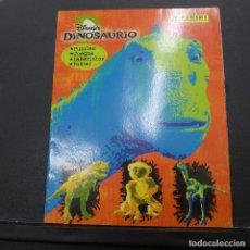 Coleccionismo Álbum: ALBUM DINOSAURIO DE PANINI INCLUYE POSTER COMPLETO. Lote 176107778