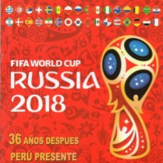 Coleccionismo Álbum: 168 STICKERS PERU ALBUM FUTBOL FOOTBALL WORLD CUP RUSSIA 2018 16 PAGES COMPLETE COPA MUNDIAL RUSIA. Lote 176109323