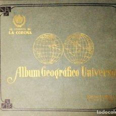 Coleccionismo Álbum: ALBUM GEOGRAFICO UNIVERSAL. CIGARROS LA CORONA. HABANA. COMPLETO. NUEVO. PERFECTO ESTADO. VER FOTOS.. Lote 176236373