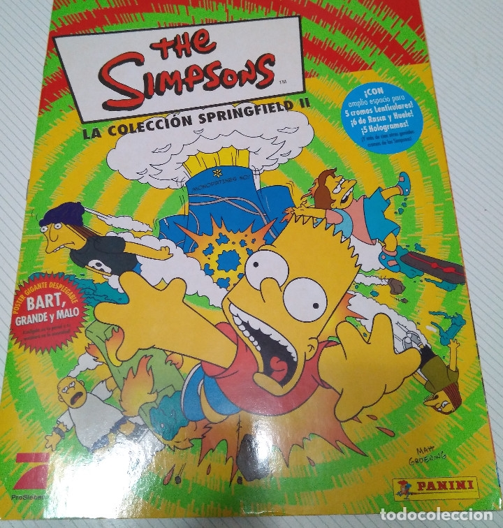 PANINI 2011 CROMO Nº 11 COLECCION  LOS SIMPSONS la coleccion de springfield