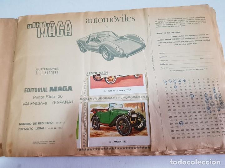 Coleccionismo Álbum: Album Completo de Maga-AUTOMOVILES- 1972 - Foto 2 - 177039835