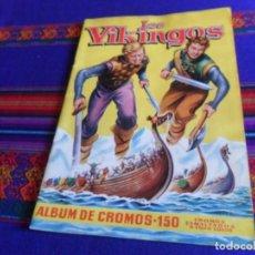 Coleccionismo Álbum: IMPECABLE CROMOS PEGADOS POR ARRIBA, LOS VIKINGOS COMPLETO 150 CROMOS. MATEU AÑOS 50.. Lote 177126800