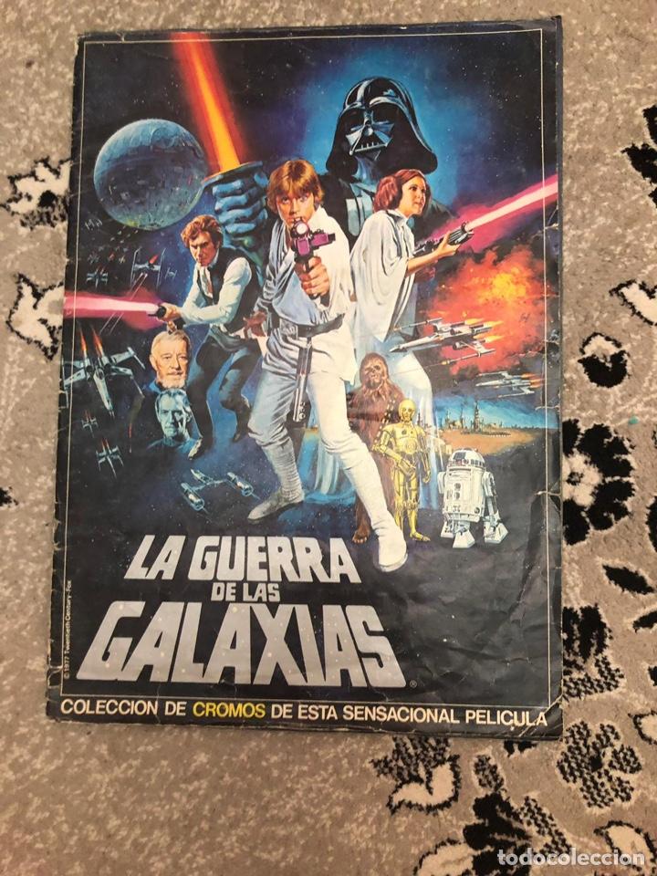 ÁLBUM DE CROMOS LA GERRRA DE LAS GALAXIAS COMPLETO ESTÁ EN MUY BUEN ESTADO (Coleccionismo - Cromos y Álbumes - Álbumes Completos)