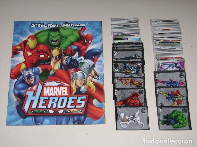 ALBUM MARVEL HEROES 2010 - EDITORIAL NAVARRETE - 100% COMPLETO (Coleccionismo - Cromos y Álbumes - Álbumes Completos)