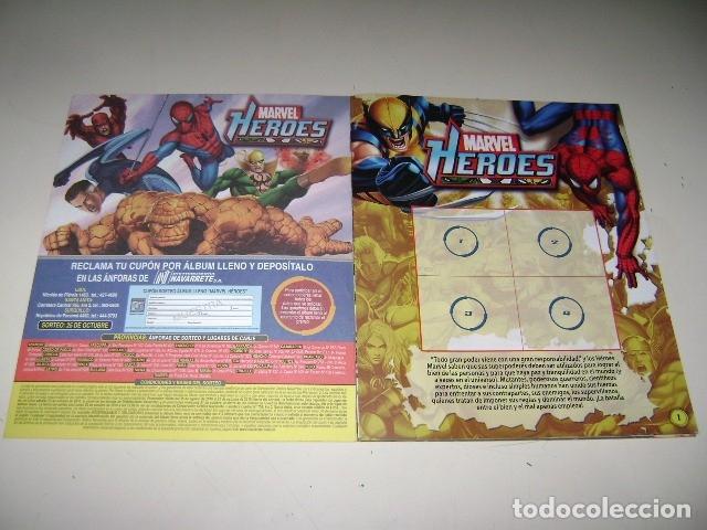 Coleccionismo Álbum: Album MARVEL HEROES 2010 - Editorial Navarrete - 100% Completo - Foto 2 - 185901023