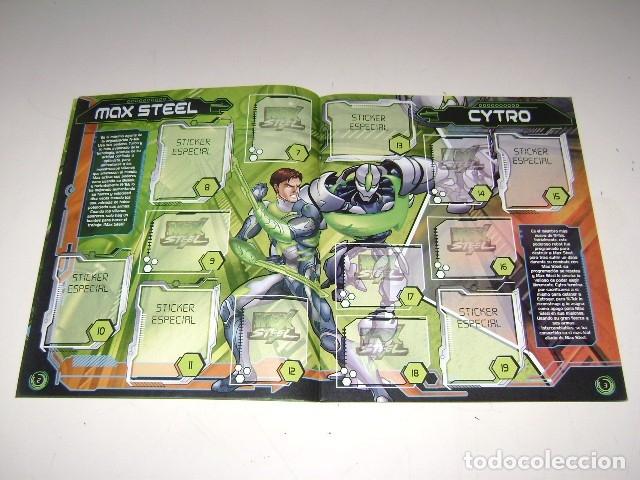 Coleccionismo Álbum: Álbum Max Steel 2011 - Editorial Navarrete - 100% Completo - Foto 3 - 177328305