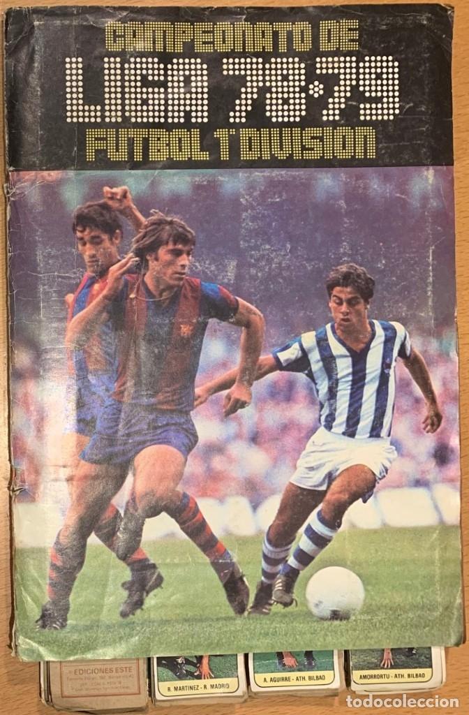 ALBUM ESTE CAMPEONATO DE LIGA 78-79 FUTBOL 1ª DIVISION. MAS QUE COMPLETO (Coleccionismo - Cromos y Álbumes - Álbumes Completos)
