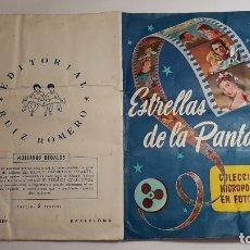 Coleccionismo Álbum: RUIZ ROMERO - ESTRELLAS DE LA PANTALLA - ÁLBUM COMPLETO. Lote 178214831