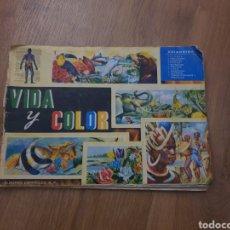 Coleccionismo Álbum: ÁLBUM VIDA Y COLOR COMPLETO 1965. Lote 178247665