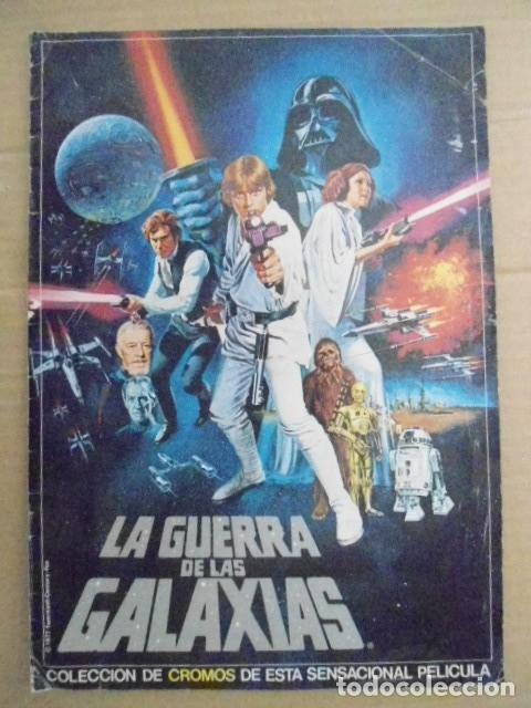STAR WARS 1977 ALBUM CASI VACIO + ALBUM PARA COMPLETAR - LEER DESCRIPCION (Coleccionismo - Cromos y Álbumes - Álbumes Completos)