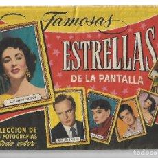 Coleccionismo Álbum: FAMOSAS ESTRELLAS DE LA PANTALLA - COMPLETO. Lote 178389492