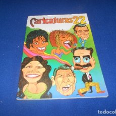 Coleccionismo Álbum: CARICATURAS 22 COMPLETO 210 CROMOS. CROMOS ROS 1987. MUY BUEN ESTADO.. Lote 178558935
