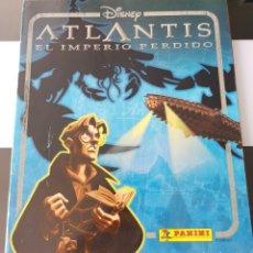 Coleccionismo Álbum: ÁLBUM CROMOS DISNEY ATLANTIS PANINI. Lote 178915081