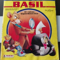 Coleccionismo Álbum: ALBUM CROMOS DISNEY BASIL RATON SUPERDETECTIVE PANINI. Lote 178915132