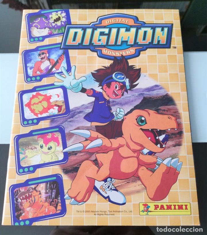 ÁLBUM CROMOS DIGIMON DIGITAL MONSTERS ED. PANINI 2000 (Coleccionismo - Cromos y Álbumes - Álbumes Completos)