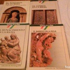 Coleccionismo Álbum: LOTE 4 ALBUMES CROMOS-FOTOS (COLECC. COMPLETO) ROMÁNICO, GÓTICO, RENACIMIENTO Y BARROCO EN LA RIOJA. Lote 222199265