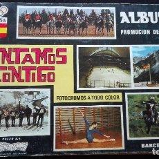 Coleccionismo Álbum: ALBUM CROMOS CONTAMOS CONTIGO. Lote 179085146