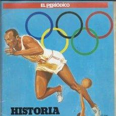 Collectionnisme Album: HISTORIA DE LOS JUEGOS OLIMPICOS, EL PERIODICO, BUEN ESTADO. COLECCIÓN A.T.. Lote 179126027