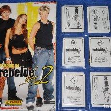 Coleccionismo Álbum: REBELDE WAY 2 - PANINI ¡COLECCIÓN COMPLETA SIN PEGAR!. Lote 179209323