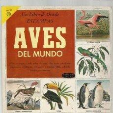 Coleccionismo Álbum: AVES DEL MUNDO, 1959, NOVARO, ÁLBUM COMPLETO, BUEN ESTADO. COLECCIÓN A.T.. Lote 179212346