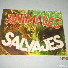 Coleccionismo Álbum: ANTIGUO ÁLBUM COMPLETO CROMOS TROQUELADOS ANIMALES SALVAJES DE DIFUSORA DE CULTURA DEL AÑO 1982. Lote 179290817