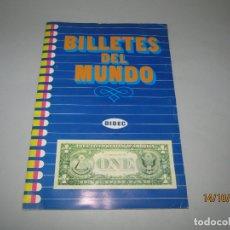Coleccionismo Álbum: ANTIGUO ÁLBUM COMPLETO BILLETES DEL MUNDO DE DIFUSORA DE CULTURA DEL AÑO 1984. Lote 179308730