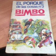 Coleccionismo Álbum: EL PORQUE DE LAS COSAS BIMBO Nº 3 ALBUM COMPLETO CON BIMBORAMAS LUCKY LUKE (COIB35). Lote 179536230